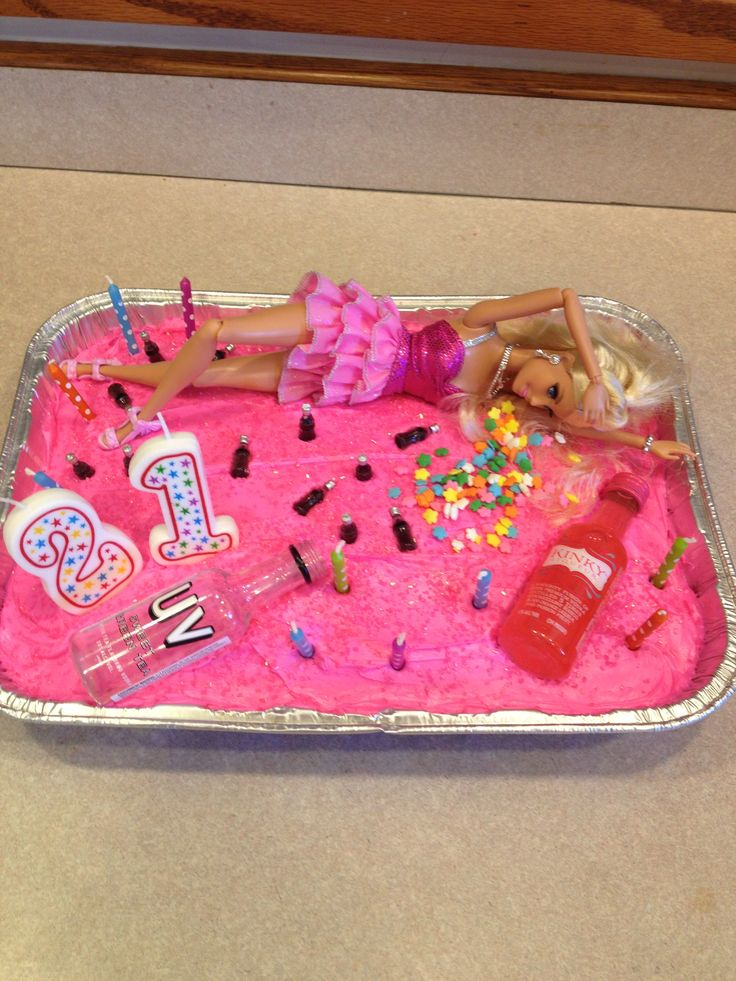 Drunk Barbie Cake Images : Drunk Barbie 21st Birthday Cake Ideas Pinterest 21st ...