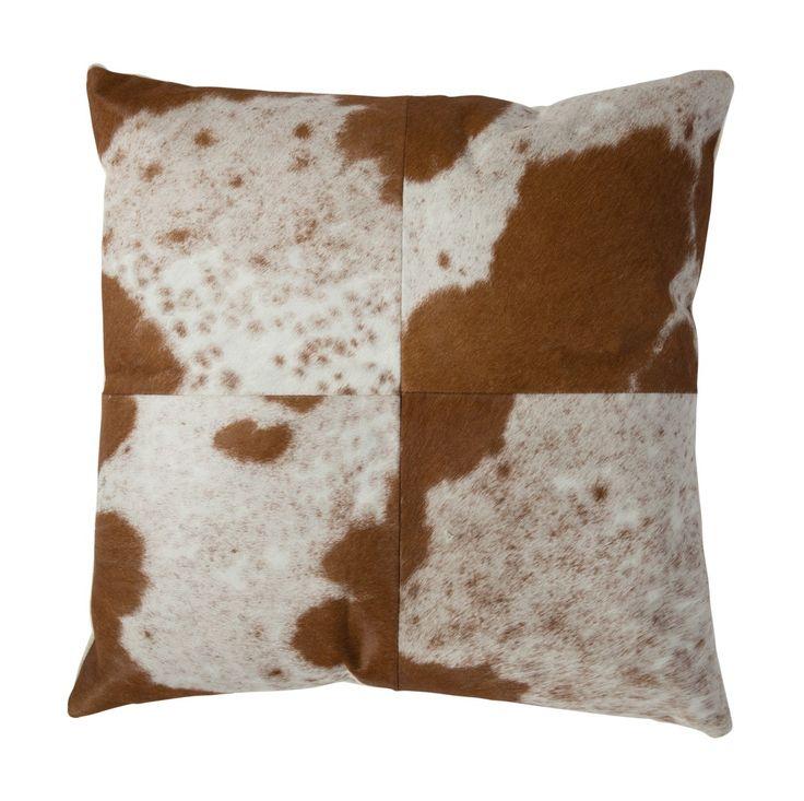 Sqaure Block Cushion, Cowhide