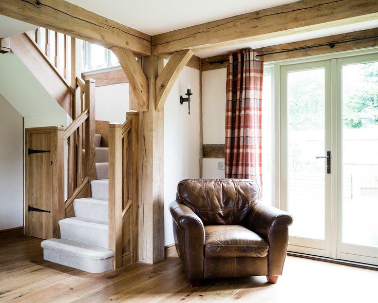 Border Oak - open plan entrance hallway/sitting room