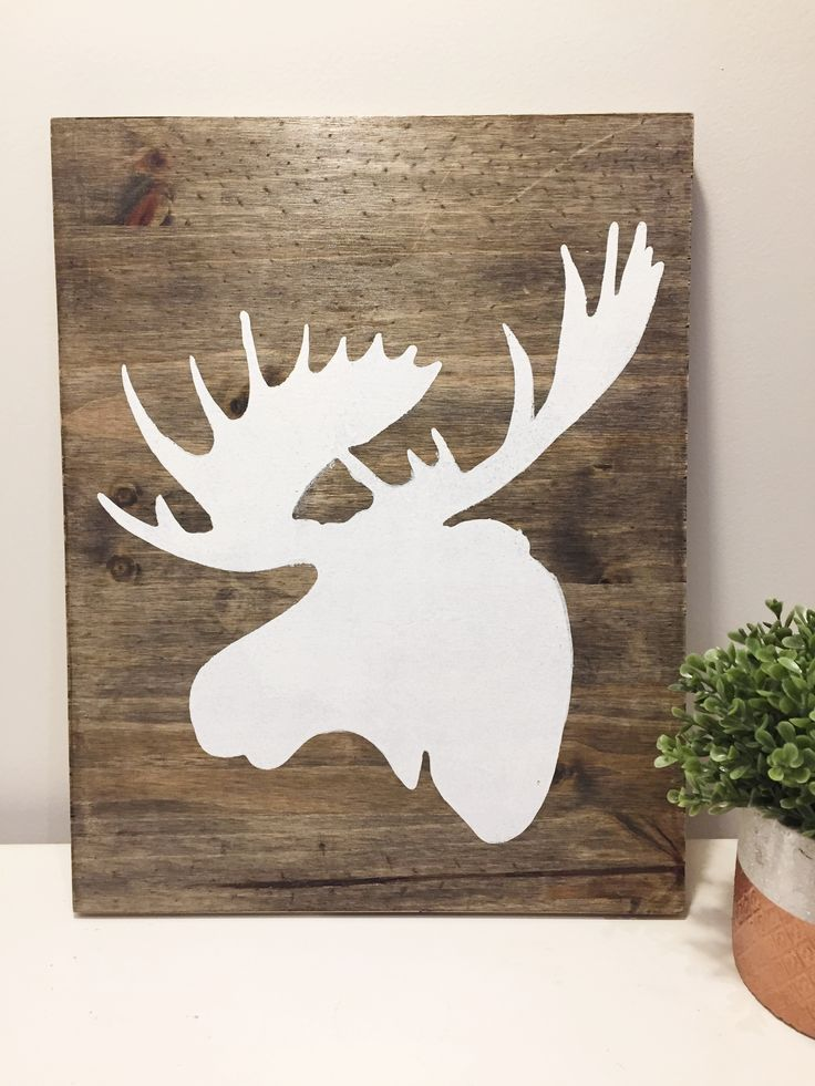 White Wood Design Studio is now selling custom wood signs! Moose board is selling for $30