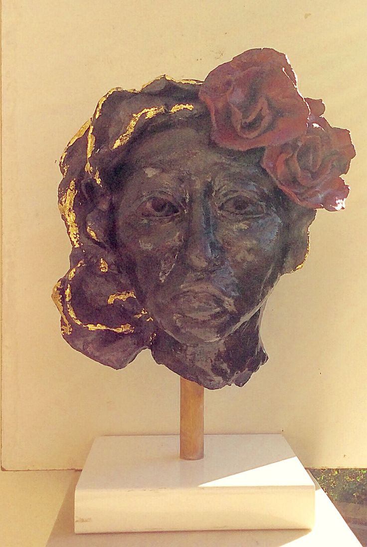 Woman in black clay