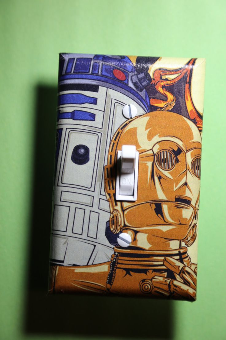 Star Wars C3po R2d2 Light Switch Plate Cover Bedroom Room
