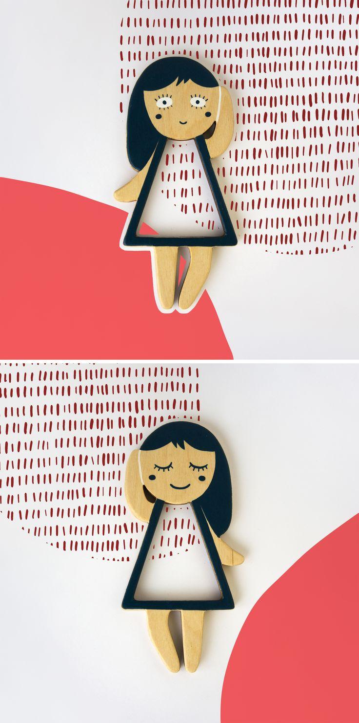 Lula. Telepapu wooden doll