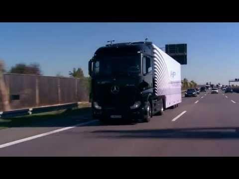 Mercedes-Benz Actros Autonomous Truck @ public german autobahn - YouTube