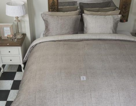 Industrial natural duvet cover set-Brunelli
