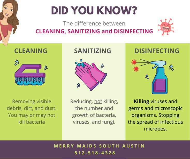 Difference between sanitizing and disinfecting merry
