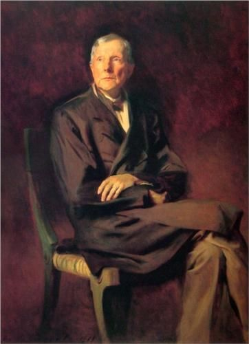 """Rockefeller, at the age of 86, penned the following words to sum up his life: """"I was early taught to work as well as play, My life has been one long, happy holiday; Full of work and full of play- I dropped the worry on the way- And God was good to me everyday"""". John D. Rockefeller - John Singer Sargent"""