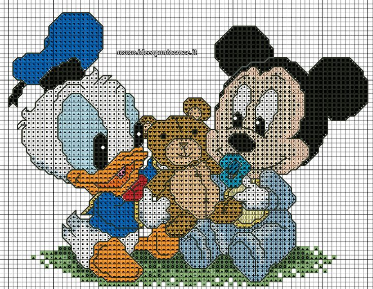 116 best images about schemi punto croce disney on for Schemi punto croce paperino