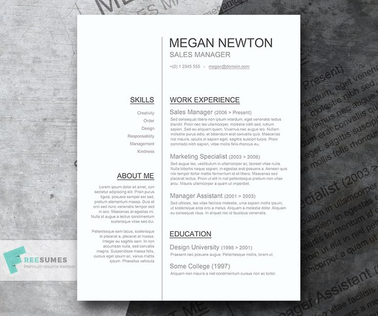 The 25+ best Simple cv ideas on Pinterest Simple cv template - resume templates simple