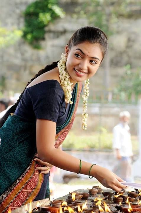 nazriya nazim in saree films pinterest