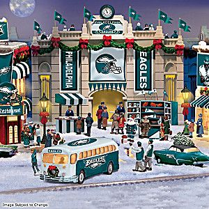 Philadelphia Eagles Illuminated Christmas Village Collection