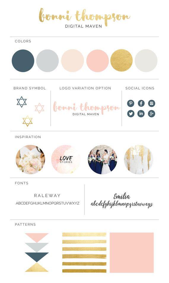 $2.00 Brand Board Template - Design Your Own Visual by DigitalDesignMaven