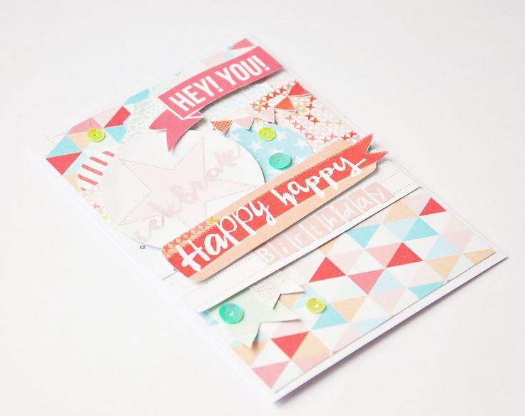 Birthday handmade card , scrapbooking , studiotekturek , pastel