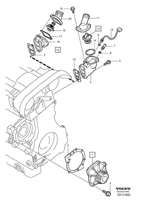 coolant pump thermostat 5-cylinder