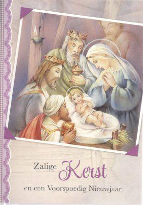 Zalige kerst en een voorspoedig Nieuwjaar!    Kerstkaart kindje Jezus en de drie koningen