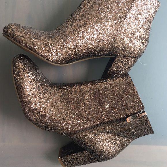 BCBGeneration CHARM rose gold glitter boots