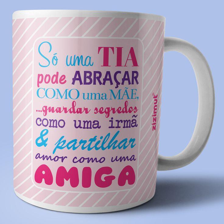 Caneca para a tia.  #zizimut #funnytshirts #tshirts #hoodies #sweatshirt #giftshops #personalizedgifts #personalizadas #porto #tshirtshop #caneca #mug #tia #aunt