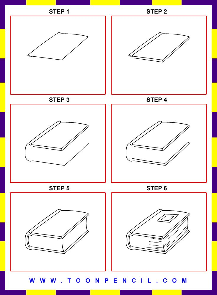 How To Draw A Book Step By Step For Kids Google Search Doodling