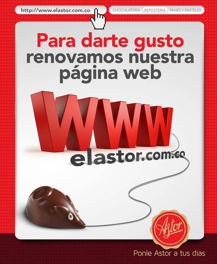 En la #reposteriaastor renovamos nuestra página web... Visita www.elastor.com.co y vive una nueva experiencia digital