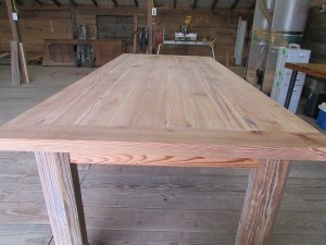 Here Is A Table With Breadboard Ends You Can See The End Butted