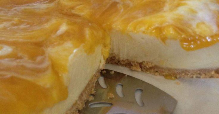 Mango, White Chocolate Cheesecake