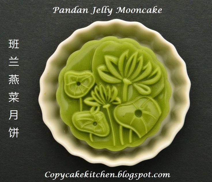 Copycake Kitchen: Pandan Jelly Mooncake 班兰燕菜月饼