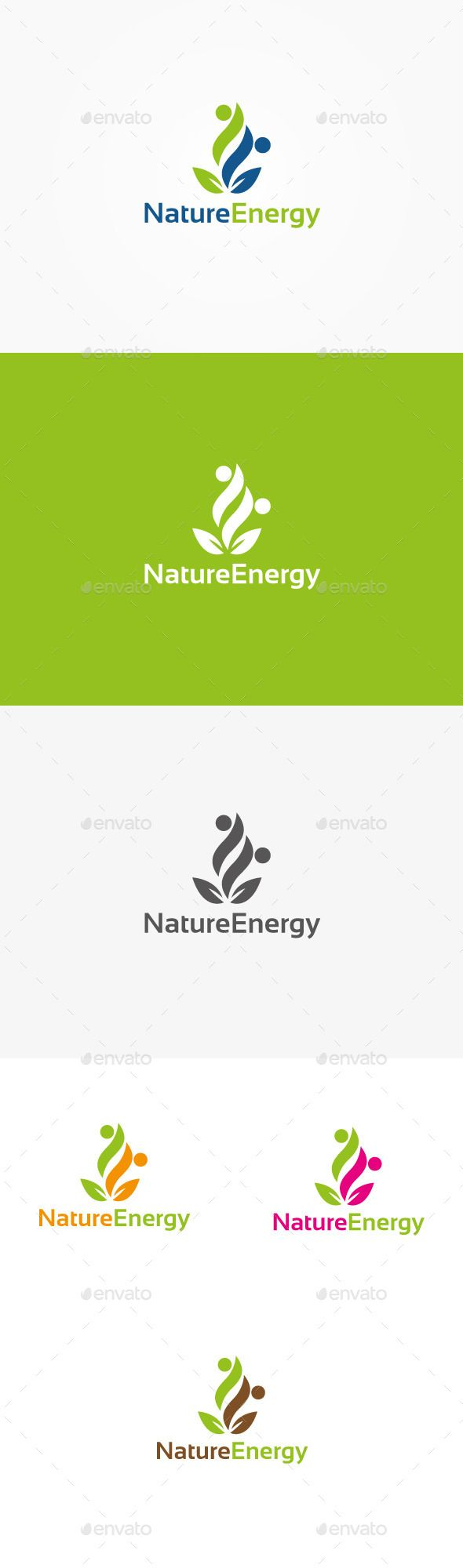 Nature Energy - Logo Design Template Vector #logotype Download it here: http://graphicriver.net/item/nature-energy-logo/9942886?s_rank=1450?ref=nesto
