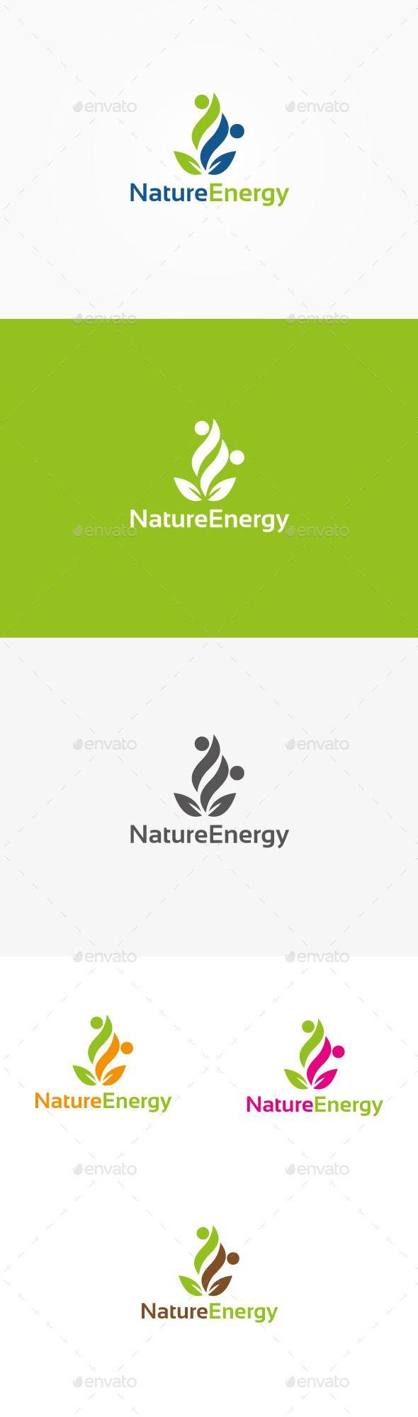 Nature Energy - Logo Design Template Vector #logotype Download it here: http://graphicriver.net/item/nature-energy-logo/9942886?s_rank=1450?ref=nesto https://www.kznwedding.dj