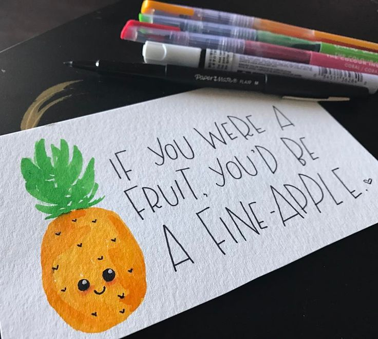 "1,143 Likes, 42 Comments - Veronica Ruiz (@veronicaletters) on Instagram: ""Who do you think is a fine-apple? Tag 'em below! Stay tuned for more of these amazing puns ✌Happy…"""