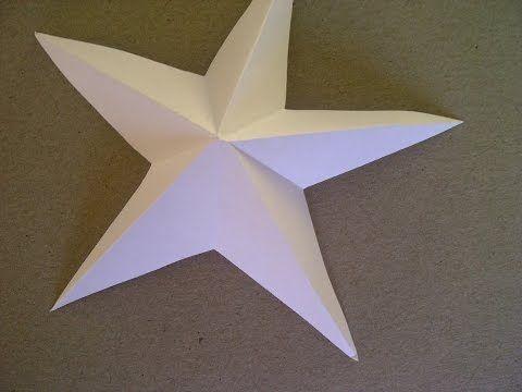 3D-Sterne basteln. 5-zackiger Stern aus Papier falten sehr einfach. - YouTube