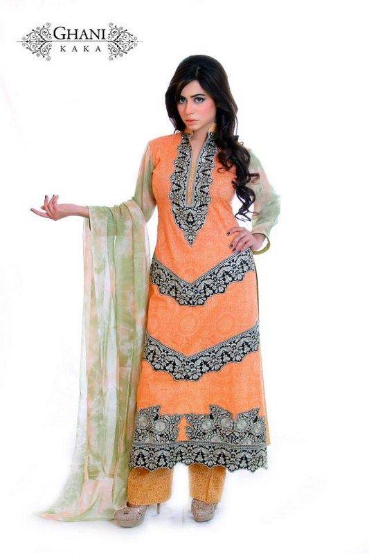 Ghani Textile Spring Dresses 2014 For Women 007