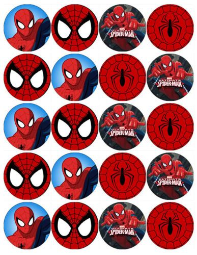 SPIDERMAN-V7-SUPERHERO-EDIBLE-WAFER-PAPER-TOPPERS-CUPCAKE-CAKE-MUFFIN-FAIRY