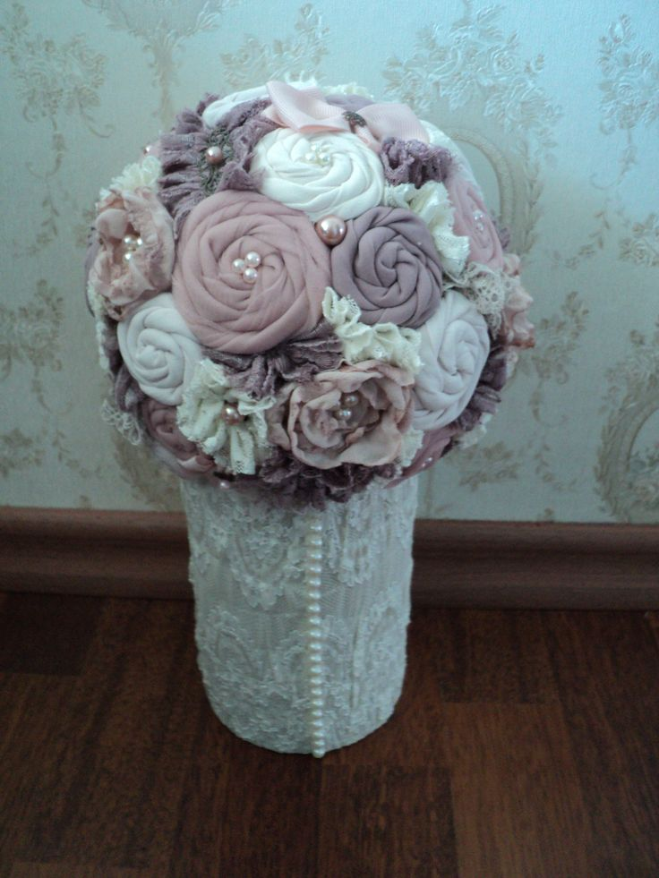 fabric bouquet for a baby girl room
