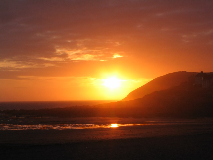 Croyde Bay at sunset