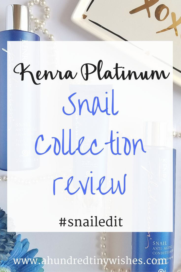 The secret to aging hair? Kenra Platinum Snail Collection Review