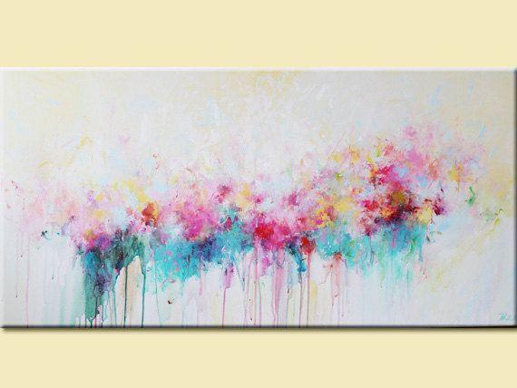 Malerei abstrakte Acryl zeitgenössische original von artbyoak1