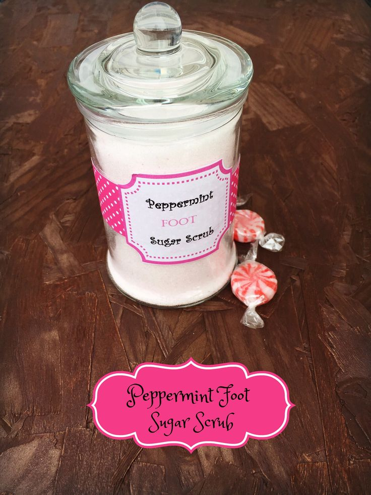 This Peppermint Coconut Oil Foot scrub will not only deodorize but get your winter feet polished and ready for spring!