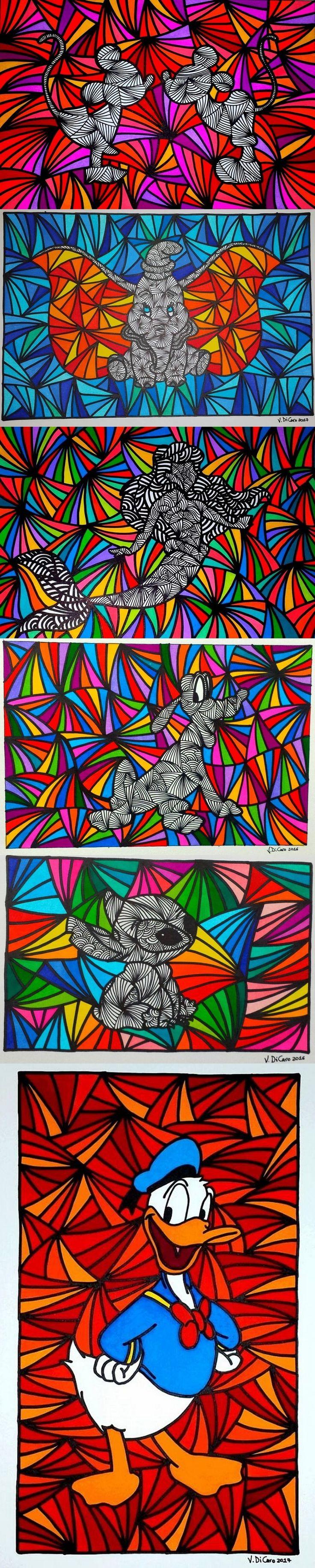 Disney Characters As Pen Drawings By Vince Di Caro
