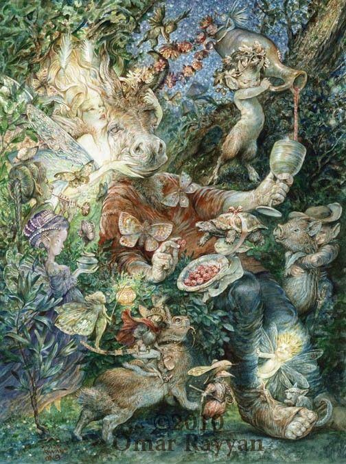 Bottom's Dream by Omar Rayyan: Omar Rayyan, Bottomsdream, Dreams, Bottom S Dream, Illustration, Artist, Fairytale
