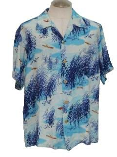 1950's Mens Hawaiian Shirt
