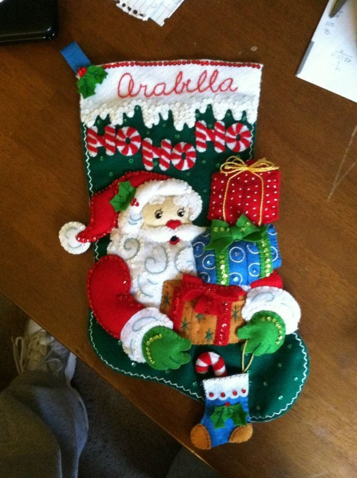 Stocking for my Daughter #Christmas #Stocking #CreationCorner