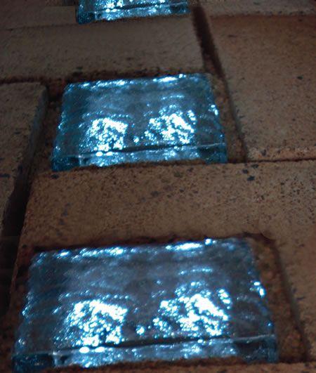 Solar Powered Glass Bricks