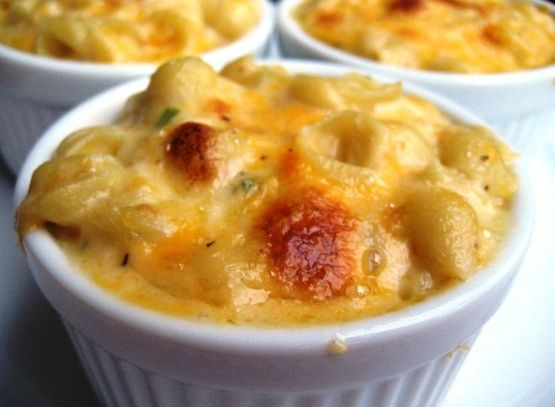 Creamy Macaroni And Cheese - For Two Or One Recipe -  I left out the extra cubed cheese it seemed like too much, and without it, this tasted absolutely delicious! Even though it's for 2 I ate it myself…I will definitely be making again. Great basic mac and cheese. quick and easy