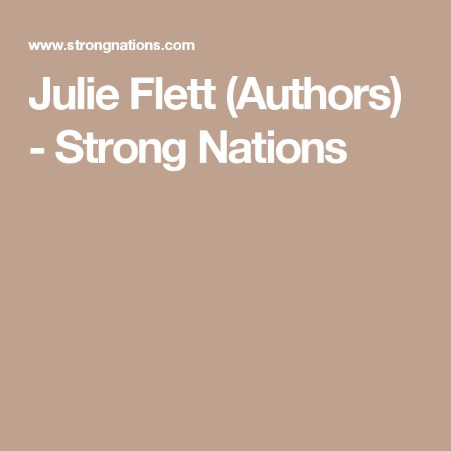 Julie Flett (Authors) - Strong Nations
