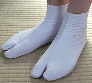 Japanese Traditional White Tabi Socks for Kimono Yukata Geta Zori