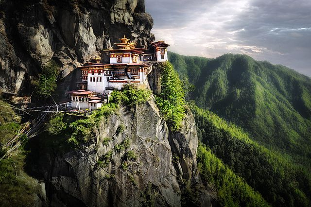 3000 meters high up in the Himalayan Mountains sits the Tigers Nest Monastery (or Taktsang Palphug).  Located near the city of Paro in the Kingdom of Bhutan, I hiked up into the mountains to find this sacred Buddhist temple complex perched on the edge of a cliff.  I was also fortunate to enter inside the Monastery, which was originally built in 1692.