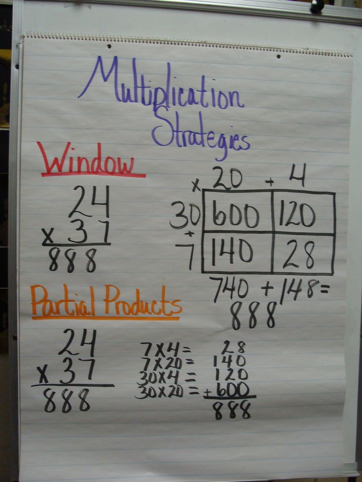 multiplication...the is always another way