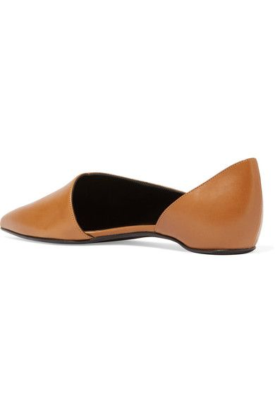 Pierre Hardy - Mirage Leather Point-toe Flats - Tan - FR