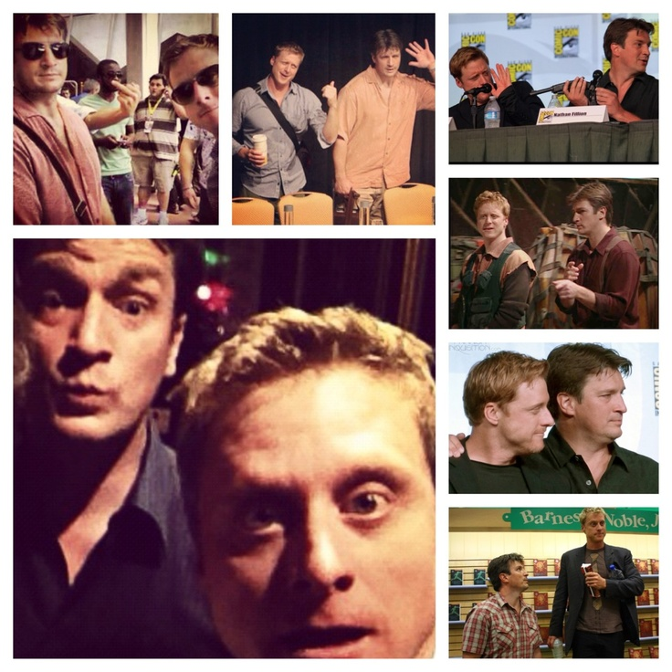 Alan Tudyk and Nathan Fillion. Love. I feel like these two get into far too many shenanigans when they are together. :-)