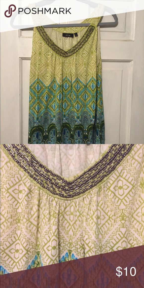 Beautiful blouse with bling Pretty top- dress it up or wear it on date night with jeans! Apt. 9 Tops Blouses